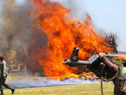 Kenya burning